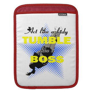 Tumble lika a Boss Cheerleader iPad Sleeve