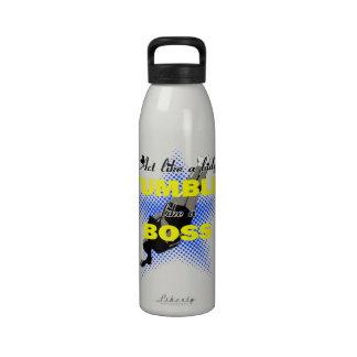 Tumble lika a Boss Cheerleader Water Bottle