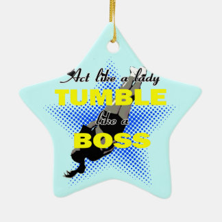 Tumble like a Boss Double-Sided Star Ceramic Christmas Ornament