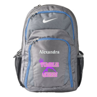 Tumble Queen personalized backpack