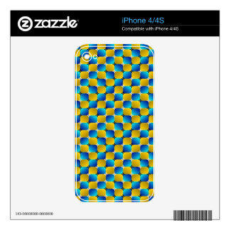 Tumbler #3 Optical Illusion Warping Blue/Yellow Decals For The iPhone 4S