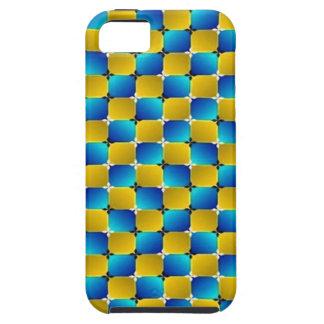 Tumbler #3 Optical Illusion Warping Blue/Yellow iPhone SE/5/5s Case