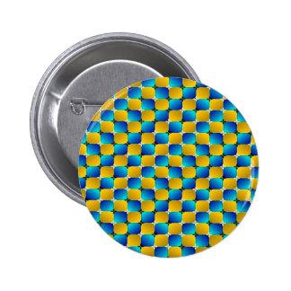 Tumbler #3 Optical Illusion Warping Blue/Yellow Pinback Button