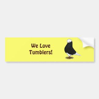 Tumbler:  Black Bald CL Bumper Sticker