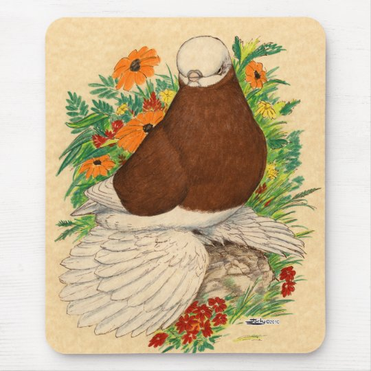 Tumbler:  Red Bald Muffed Mouse Pad