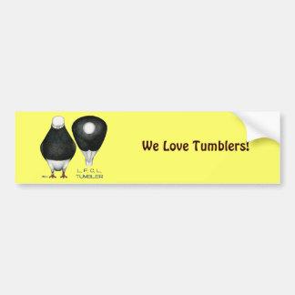 Tumbler:  Standard Black Bald Bumper Sticker