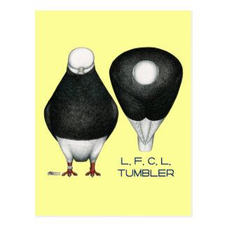 Tumbler:  Standard Black Bald Postcard
