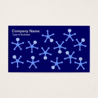 Tumblers - Baby Blue on Dp Navy Business Card