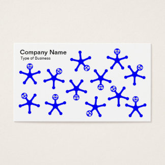 Tumblers - Blue on White Business Card