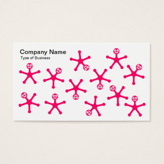 Tumblers - Neon Red on White Business Card