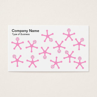 Tumblers - Pink on White Business Card