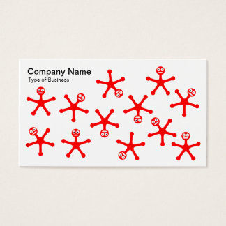 Tumblers - Red on White Business Card