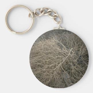 Tumbleweed rústico llavero redondo tipo pin