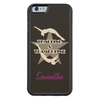 Tumbling and Trampoline Carved® Maple iPhone 6 Bumper