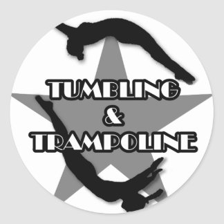 Tumbling and Trampoline Classic Round Sticker