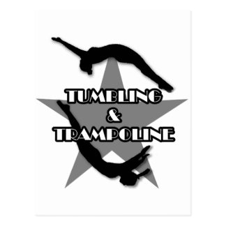 Tumbling and Trampoline Postcard