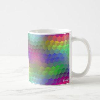 tumbling blocks classic white coffee mug