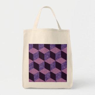 tumbling blocks tote bag