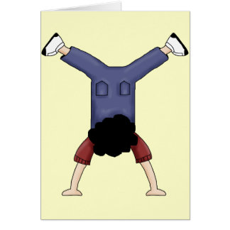 Tumbling Boy Card