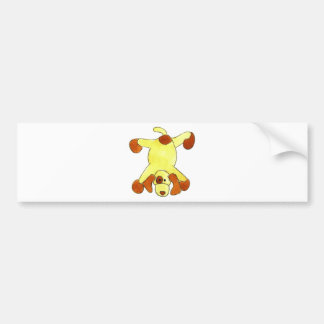 Tumbling Doggy Bumper Sticker