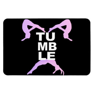 Tumbling girls magnet