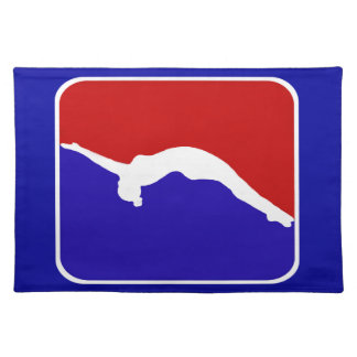 Tumbling gymanst American Mojo Cloth Placemat