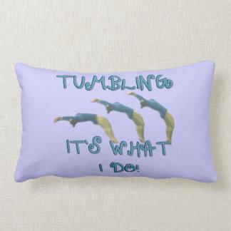 Tumbling gymanst American Mojo lumbar throw pillow
