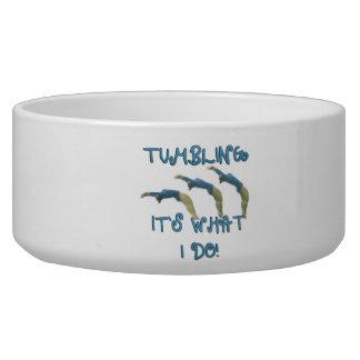 Tumbling gymnast bowl