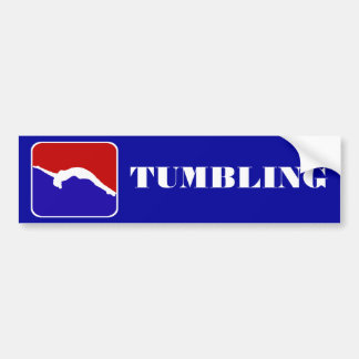 Tumbling gymnast bumper sticker