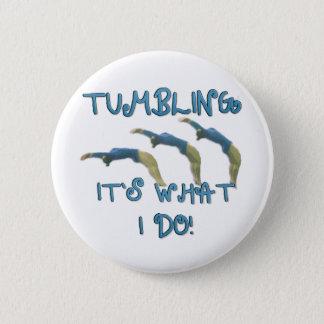 Tumbling gymnast button