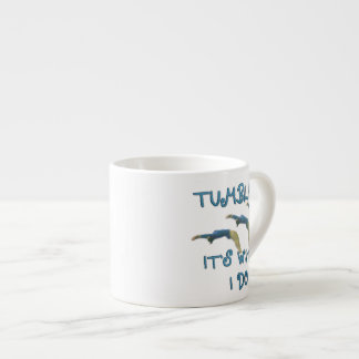 Tumbling gymnast espresso cup