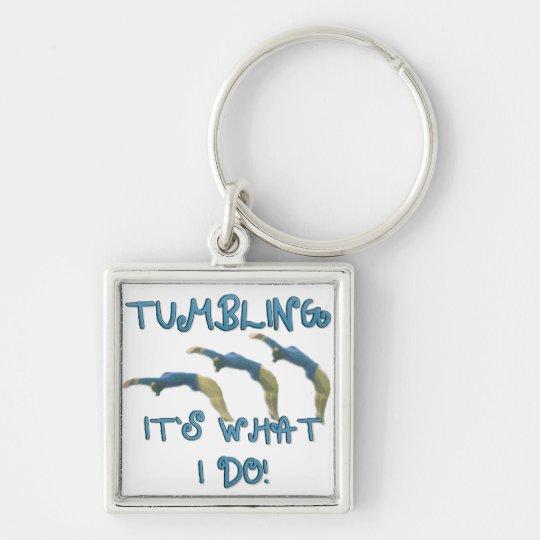 Tumbling gymnast keychain