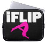 Tumbling gymnast laptop sleeves