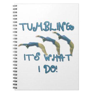 Tumbling gymnast notebook