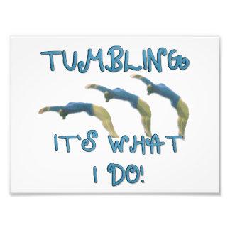 Tumbling gymnast photo print