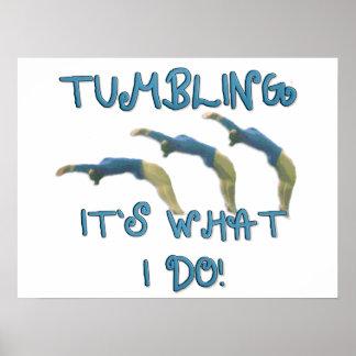 Tumbling gymnast poster