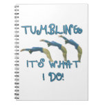 Tumbling gymnast spiral note book