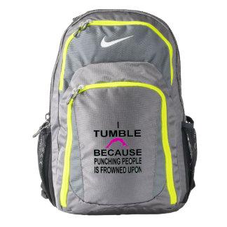 Tumbling gymnast sports backpack