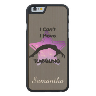 Tumbling Gymnastics Carved® Maple iPhone 6 Slim Case