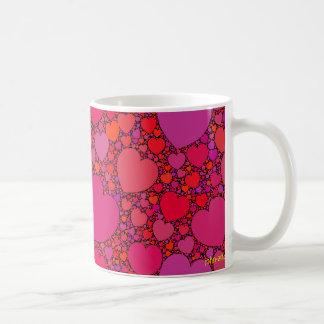 tumbling hearts 1 classic white coffee mug