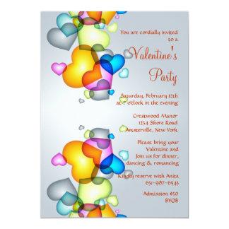 Tumbling Hearts Valentine's Invitation