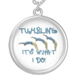 Tumbling it's what I do gymnast Personalized Necklace