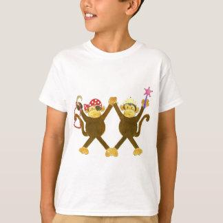 Tumbling Monkey Princess & Monkey Pirate T-Shirt