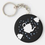 Tumbling Tea Party Basic Round Button Keychain