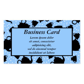 Tumbling Tea Party Double-Sided Standard Business Cards (Pack Of 100)