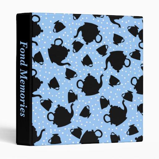 Tumbling Tea Party Vinyl Binder