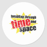 Tumbling Through Time and Space Classic Round Sticker