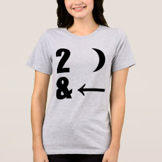 Tumblr T-Shirt I Love U 2 The Moon and Back