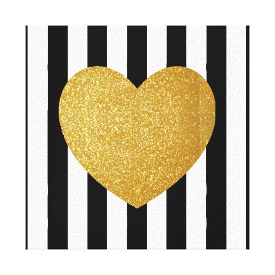 TUMBLR WALL ART GOLD GLITTER HEART