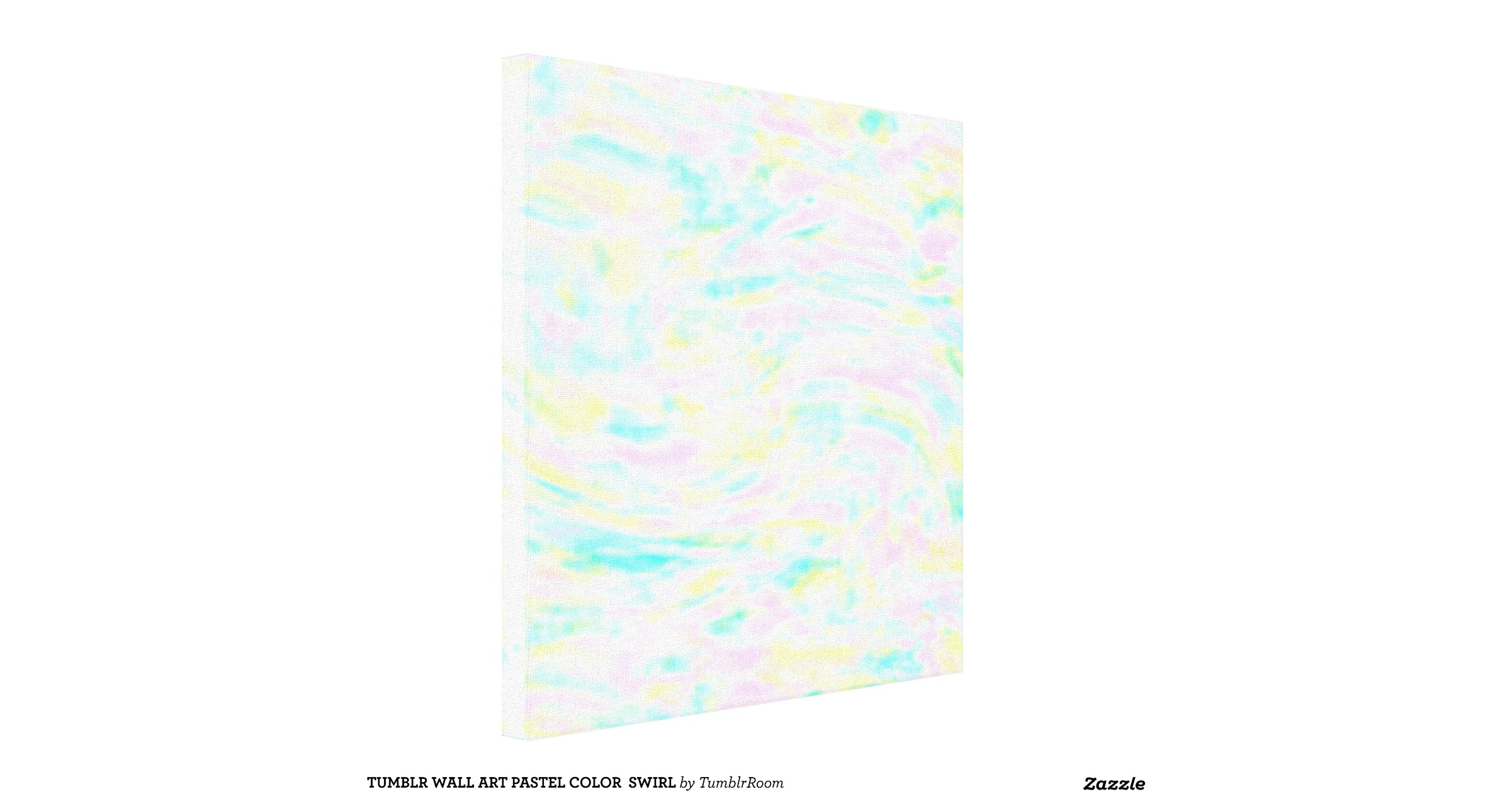 Wall Art Pastel Colours : Tumblr wall art pastel color swirl canvas print